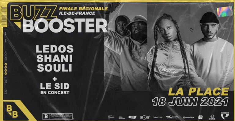 La billetterie pour assister la finale IDF Buzz Booster le 18 Juin avec un concert de Le Sid est ouverte !