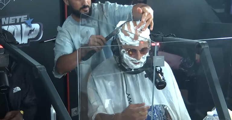 Alkpote se fait raser le crâne en plein freestyle ! (Vidéo)